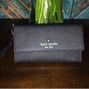 Kate Spade black wristlet